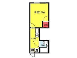 大阪府堺市堺区西永山園の賃貸マンションの間取り
