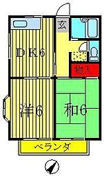 平成ハイツA・B[1階]の間取り