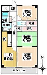 ハーモニアス桜本町[2階]の間取り