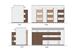 (仮称)篠の風1丁目アパート[102号室]の外観