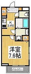 NINEHOUSES[2階]の間取り