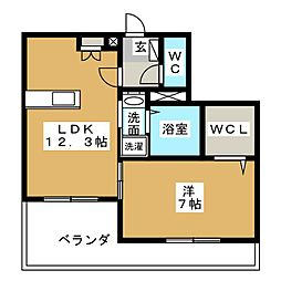 M・ラシーネ[2階]の間取り