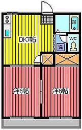 埼玉県さいたま市南区別所3丁目の賃貸アパートの間取り