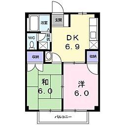 ウェアハウスA[0203号室]の間取り