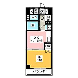 日 宝 プ ロ シ ー ド 上 杉[5階]の間取り