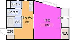 イヌイマンション[2階]の間取り
