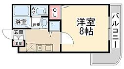 リーガルコート山本駅前[212号室]の間取り