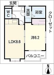若菜 B棟[2階]の間取り