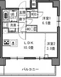 S-RESIDENCE新御徒町West[1103号室号室]の間取り