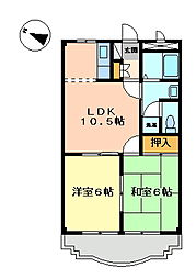 ハイツルヴィエール203[2階]の間取り
