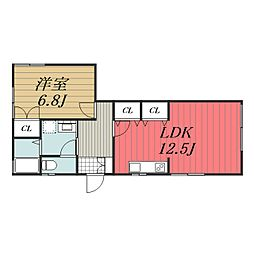 [一戸建] 千葉県千葉市美浜区真砂2丁目 の賃貸【/】の間取り