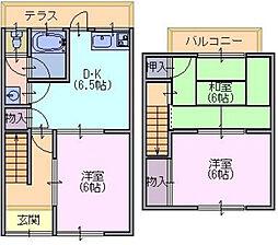 [テラスハウス] 奈良県奈良市押熊町 の賃貸【奈良県 / 奈良市】の間取り
