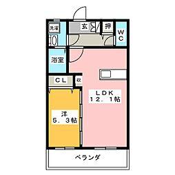カトルパレ小石川[3階]の間取り