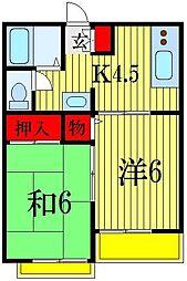 ラフォーレハイツW-3[2階]の間取り