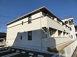 愛知県北名古屋市鹿田合田の賃貸アパートの外観