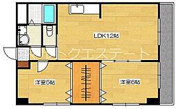 メゾン隼人(真孝)[6階]の間取り