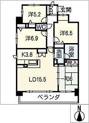 ポレスター鵜の森 1001号室[10階]の間取り