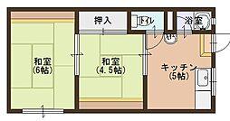 竹内ハイツII[101号室]の間取り