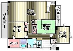 サンライズマンションドムス熊取[301号室]の間取り