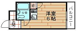 大阪府大阪市港区夕凪1丁目の賃貸マンションの間取り