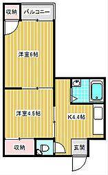 サニーハイツタカヨシ[307号室]の間取り