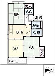 パークハイツナカムラ[1階]の間取り