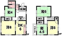 [一戸建] 滋賀県大津市滋賀里3丁目 の賃貸【/】の間取り
