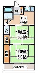 マンション源[2階]の間取り