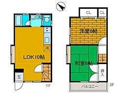 [テラスハウス] 神奈川県相模原市中央区上矢部2丁目 の賃貸【神奈川県 / 相模原市中央区】の間取り
