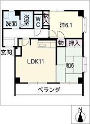 パークマンション弥生[2階]の間取り