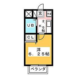 コーポ・ユー[1階]の間取り