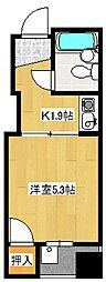 レジデンス加古町[4階]の間取り