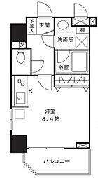 シャルムコート新宿ステーションパレス[301号室]の間取り