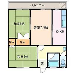 いずみコーポ[2階]の間取り