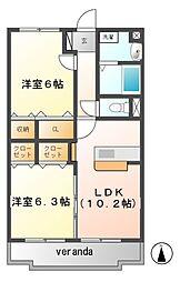 Y&MSAKURAII[2階]の間取り