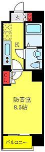 間取り,1K,面積25.34m2,賃料11.2万円,東武東上線 大山駅 徒歩10分,JR埼京線 板橋駅 徒歩21分,東京都板橋区熊野町33-1