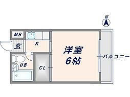 エルバハイツ[2階]の間取り