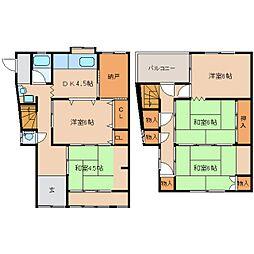 [一戸建] 奈良県香芝市上中 の賃貸【奈良県 / 香芝市】の間取り