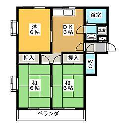 ハイツ浅野II[3階]の間取り