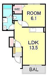 ブライトハウス3[1階]の間取り