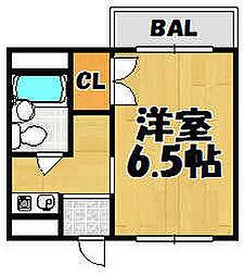 兵庫県川西市小戸2丁目の賃貸マンションの間取り