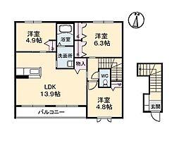 鳳鳴館 III[2階]の間取り