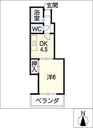 ゼフィール[4階]の間取り