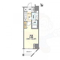 Casa Splendido 麻布仙台坂 4階1Kの間取り