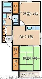 フレグランス西江井ヶ島[203号室]の間取り