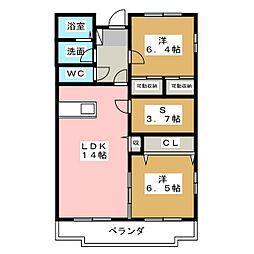 シャンポワール[2階]の間取り