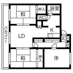 AMS平岸313[3階]の間取り