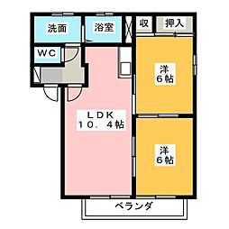 サンライズ I II III[2階]の間取り