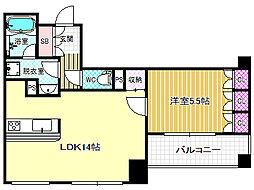 アーデンタワー福島ウエスト[9階]の間取り