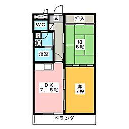 サンセジュール東別院[3階]の間取り